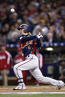 Hitoshi Tamura of Japan during World Baseball Championship at Angel Stadium in Anaheim,California on March 20, 2006. Photo by Larry Goren/Four Seam Images