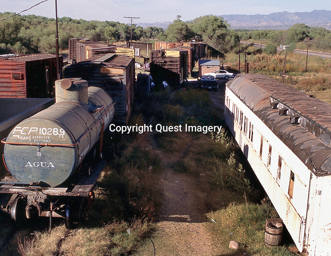 A few miles outside Magdalena sits an abandoned train that was converted into homes, one car per family.  <br />