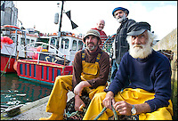 BNPS.co.uk (01202 558833)<br /> Pic: RachelAdams/BNPS<br /> <br /> r-l clockwise Ivor Charles, Kelvin Moore, David Parrott, Kevin Nurrish in Weymouth Quay<br /> <br /> Lights, camera, plankton!<br /> <br /> A crew of fishermen are enjoying unlikely sideline careers as actors in blockbuster films - thanks to their salty sea dog looks.<br /> <br /> The gang's craggy features, big beards and wild hair have helped them bag roles alongside Hollywood A-listers such as Johnny Depp and Charlize Theron.<br /> <br /> As many as 12 weather-beaten fishermen from Weymouth, Dorset, have found success on the big screen since signing up with a casting agency.<br /> <br /> And thanks to their authentic appearances they are regularly snapped by film producers wanting to make nautical scenes more realistic.