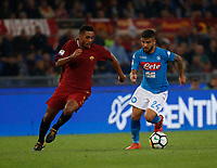 Lorenzo Insigne Juan Jesus   during the  italian serie a soccer match, AS Roma -  SSC Napoli       at  the Stadio Olimpico in Rome  Italy , 14 ottobre 2017