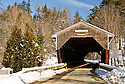 The Swiftwater Covered Bridge spanning the Wild Ammonoosuc River in Bath, New Hampshire.