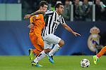 IM Torino 05-11-2013 Juventus Stadium<br /> Champions League 2013/2014<br /> Juventus Vs Real Madrid<br /> nella foto Tevez-Bale<br /> foto Marco Iorio