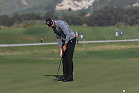 Alvaro Quiros (ESP) on the 13th green during Round 1 of the Rocco Forte Sicilian Open 2018 on Thursday 10th May 2018.<br /> Picture:  Thos Caffrey / www.golffile.ie<br /> <br /> All photo usage must carry mandatory copyright credit (&copy; Golffile | Thos Caffrey)