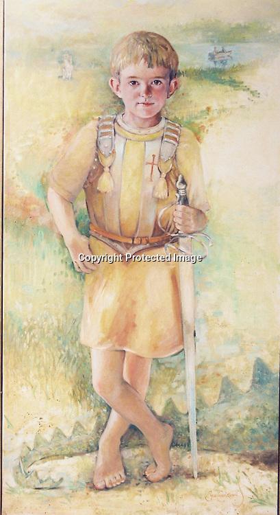 Boy wearing Armor
