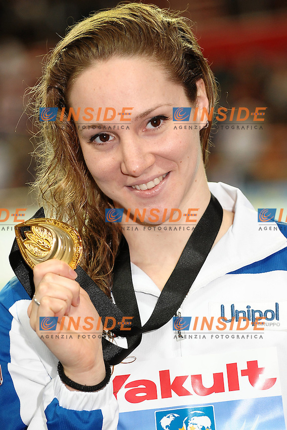 Ilaria Bianchi Italia Gold Medal Women's 100m Butterfly.Istanbul 16/12/2012 Sinan Erdem Dome.World Swimming Championships Short course 25m Nuoto Istanbul.Foto Andrea Staccioli Insidefoto