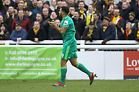 Troy Deeney of Watford celebrates his goal in the second half during Woking vs Watford, Emirates FA Cup Football at The Laithwaite Community Stadium on 6th January 2019