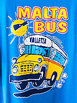 T-shirt design of the Buses found in Malta