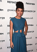"HOLLYWOOD- DECEMBER 13:  Yara Shahidi at the premiere of ""Grown-ish"" at Lure on December 13, 2017 in Hollywood, California. (Photo by Scott Kirkland/PictureGroup)"
