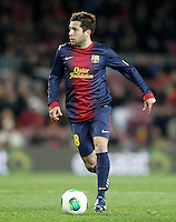 FC Barcelona's Jordi Alba during Copa del Rey - King's Cup semifinal second match.February 26,2013. (ALTERPHOTOS/Acero) /NortePhoto