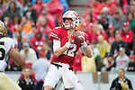 Wisconsin Badgers quarterback Alex Hornibrook (12) throws a pass during an NCAA College Football Big Ten Conference game against the Purdue Boilermakers Saturday, October 14, 2017, in Madison, Wis. The Badgers won 17-9. (Photo by David Stluka)