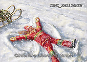 Marcello, CHRISTMAS CHILDREN, WEIHNACHTEN KINDER, NAVIDAD NIÑOS, paintings+++++,ITMCXM1136NEW,#xk# ,playing in snow