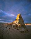 Australia, NSW, Mungo National Park, Erosion forms after rainstorm, at sunrise