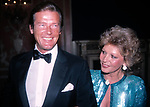 Roger Moore and his wife attending Friars Club Roast at the waldorf Astoria Hotel in New York City on <br />