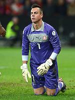 Fussball International  WM Qualifikation 2014   12.10.2012 Schweiz - Norwegen Torwart Diego BENAGLIO (Schweiz)