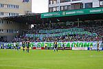 Stockholm 2013-06-23 Fotboll Superettan , Hammarby IF - &Auml;ngelholms FF :  <br /> Hammarby Bajen fans med banderoller p&aring; Norra l&auml;ktaren under sista matchen p&aring; S&ouml;derstadion<br /> (Foto: Kenta J&ouml;nsson) Nyckelord:  supporter fans publik supporters banderoll