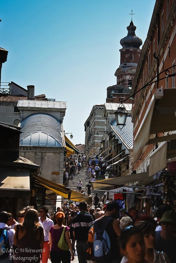 Shopping on the Rialto Bridge in Venice