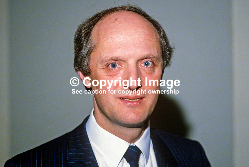 David Franklin Adair, head of Planning & development, Ulster Bank, N Ireland, 19880302DFA..Copyright Image from Victor Patterson, 54 Dorchester Park, Belfast, UK, BT9 6RJ..Tel: +44 28 9066 1296.Mob: +44 7802 353836.Voicemail +44 20 8816 7153.Skype: victorpattersonbelfast.Email: victorpatterson@me.com.Email: victorpatterson@ireland.com (back-up)..IMPORTANT: If you wish to use this image or any other of my images please go to www.victorpatterson.com and click on the Terms & Conditions. Then contact me by email or phone with the reference number(s) of the image(s) concerned.