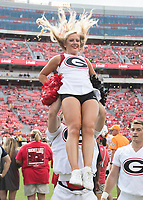 Athens, Georgia - September 29, 2018: Sanford Stadium, the number 2 ranked University of Georgia Bulldogs vs University of Tennessee Volunteers.  Final score Georgia Bulldogs 38, Tennessee Volunteers 12.