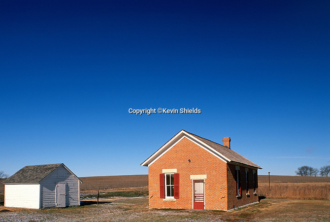 Small, one-room schoolhouse, Homestead National Monument, Nebraska, USA