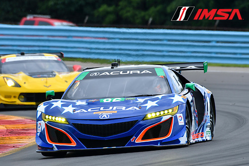 IMSA WeatherTech SportsCar Championship<br /> Sahlen's Six Hours of the Glen<br /> Watkins Glen International, Watkins Glen, NY USA<br /> Friday 30 June 2017<br /> 86, Acura, Acura NSX, GTD, Oswaldo Negri Jr., Jeff Segal<br /> World Copyright: Richard Dole/LAT Images<br /> ref: Digital Image RD_WGI_17_114