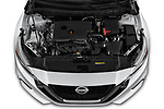 Car Stock 2019 Nissan Altima SV 4 Door Sedan Engine  high angle detail view