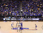 SIOUX FALLS, SD: MARCH 7: Omaha and South Dakota State tipped off for the Men's Summit League Basketball Championship Game on March 7, 2017 at the Denny Sanford Premier Center in Sioux Falls, SD. (Photo by Dick Carlson/Inertia)