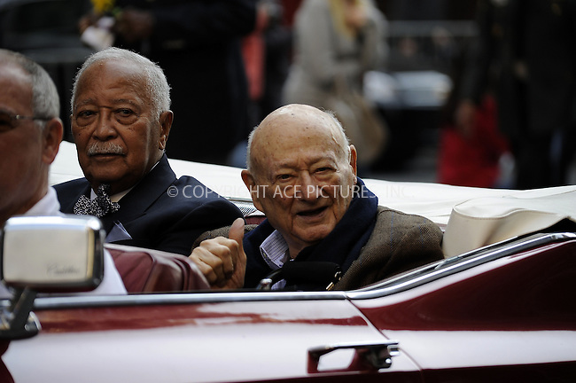 WWW.ACEPIXS.COM....February 1 2013, New York City......Former New York City Mayor Ed Koch died aged 88 in hospital on February 1 2013 in New York City. Pictureed here as the Grand Marshal of the 93rd annual Veteran's Day Parade on November 11 2012....By Line: Curtis Means/ACE Pictures......ACE Pictures, Inc...tel: 646 769 0430..Email: info@acepixs.com..www.acepixs.com