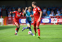 Dayle Southwell of Wycombe Wanderers during the Sky Bet League 2 match between Crawley Town and Wycombe Wanderers at Broadfield Stadium, Crawley, England on 6 August 2016. Photo by Alan  Stanford / PRiME Media Images.