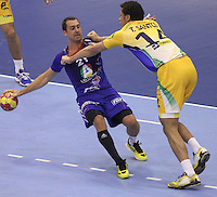 15.01.2013 Granollers, Spain. IHF men's world championship, prelimanary round. Picture show Michael Guigou   in action during game between France v Brazil at Palau d'esports de Granollers