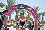 Race leader Maglia Rosa Tom Dumoulin (NED) Team Sunweb arrives at sign on before the start of Stage 2 of the 101st edition of the Giro d'Italia 2018 running 167km from Haifa to Tel Aviv, Israel. 5th May 2018.<br /> Picture: LaPresse/Fabio Ferrari | Cyclefile<br /> <br /> <br /> All photos usage must carry mandatory copyright credit (&copy; Cyclefile | LaPresse/Fabio Ferrari)