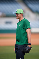 Daytona Tortugas pitcher Joel Kuhnel (38) warms up before a game against the Florida Fire Frogs on April 8, 2018 at Osceola County Stadium in Kissimmee, Florida.  Daytona defeated Florida 2-1.  (Mike Janes/Four Seam Images)