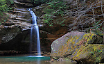 One of the waterfalls at Old Man's Cave in the Hocking Hills region of central Ohio, USA