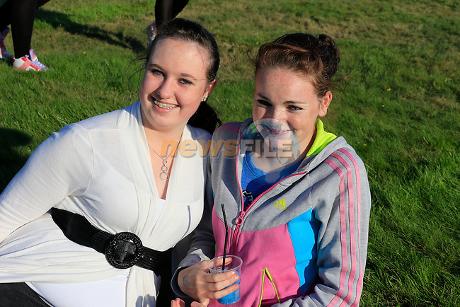 Clare Vickers, Michelle Bellew<br /> at the bellewstown Races August meeting<br /> Picture www.newsfile.ie
