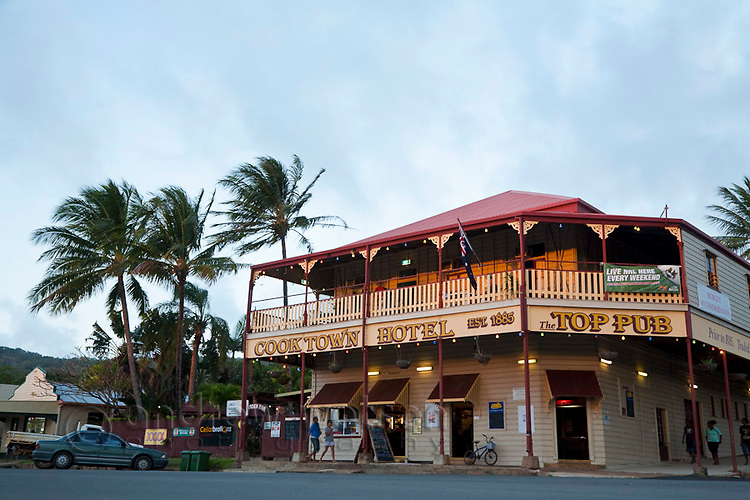 The historic Cooktown Hotel (also known as Top Pub) dating back to 1885.  Cooktown, Queensland, Australia