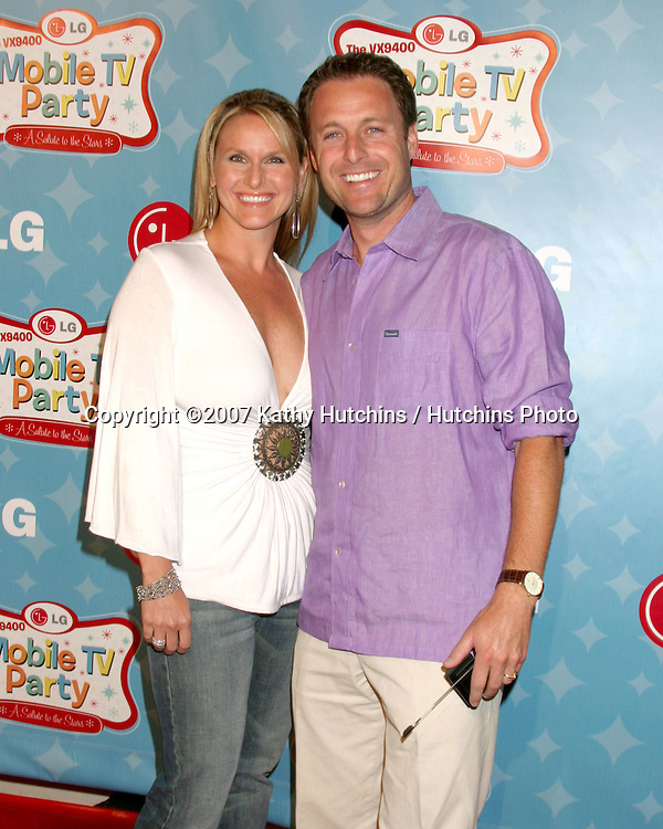 Chris Harrison & wife.LG's Mobile TV Party.Paramount Studios.Los Angeles, CA.June 19, 2007.©2007 Kathy Hutchins / Hutchins Photo....