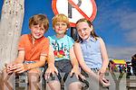 Phelim O'Sullivan, Evan Casey, Lauren Glennon enjoying the Ballyheigue Summer Festival Grand Parade on Sunday