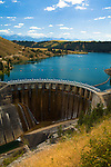 Kerr Dam and Flathead River near Polsonl, Montana