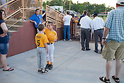 Deciding who goes first, Durham Athletic Park, Durham, NC, May 9, 2011.