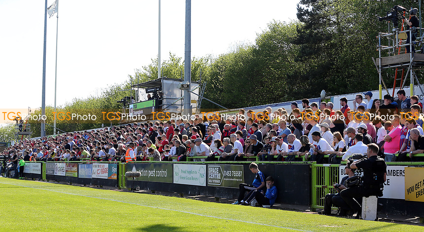 The away fans during Forest Green Rovers vs Dagenham & Redbridge, Vanarama National League Play-Off Football at The New Lawn on 7th May 2017