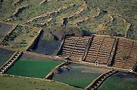 Europe/Espagne/Iles Canaries/Lanzarote : Paysage agricole aux environs de Haria