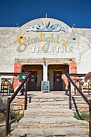 Looking up to the wonderful Starlight Theatre in Terlinqua, Texas.