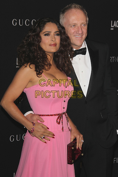 LOS ANGELES, CA - NOVEMBER 7: Salma Hayek and Francois Henri-Pinault at the LACMA Art + Film Gala honoring Alejandro G. I&ntilde;&aacute;rritu and James Turrell and presented by Gucci at LACMA on November 7, 2015 in Los Angeles, California. <br /> CAP/MPI27<br /> &copy;MPI27/Capital Pictures