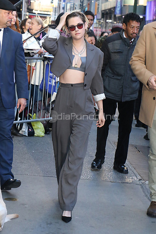 NEW YORK, NY- November 06: Kristen Stewart at Good Morning America promoting Charlie's Angels on November 06, 2019 in New York. City. Credit: RW/MediaPunch