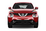 Car photography straight front view of a 2015 Nissan Juke Acenta 5 Door Suv Front View