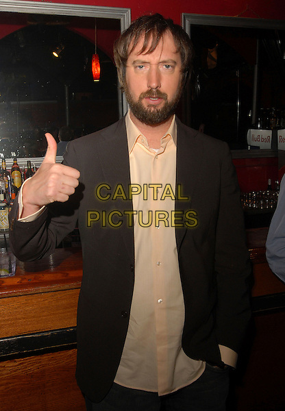 TOM GREEN.The Launch of Dave Navarro's Spread Entertainment on Mania TV, A weekly internet TV Show live from The Dragonfly  in Hollywood, California, USA. .May 17th, 2007.half length beard facial hair brown suit jacket thumb up .CAP/DVS.©Debbie VanStory/Capital Pictures