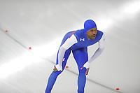 SCHAATSEN: BERLIJN: Sportforum Berlin, 07-12-2014, ISU World Cup, Shani Davis (USA), ©foto Martin de Jong