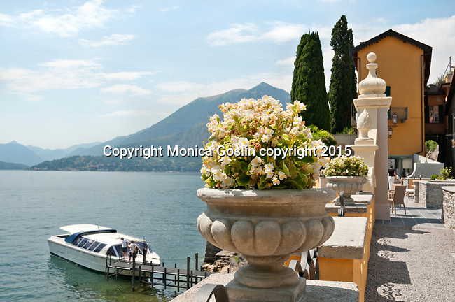 Lake Como, Italy as seen from the terrace of the Hotel Royal Victoria in the town of Varenna