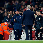 West Brom's Tony Pulis shakes hands with Arsenal's Arsene Wenger during the premier league match at the Emirates Stadium, London. Picture date 25th September 2017. Picture credit should read: David Klein/Sportimage