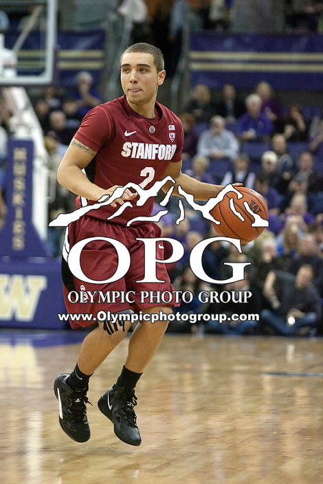 Jan 21, 2012:  Stanford's Aaron Bright against Washington.  Washington defeated Stanford 76-63 at Alaska Airlines Arena Seattle, Washington...