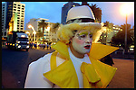 Gabriel Malgarejo is seen moments before the start of the inaugural parade of the Uruguayan Carnival, January 30, 2004, in Montevideo's Plaza Independencia. The Uruguayan carnival season, the longest of any carnival of the world, extended it's season for more than a month.